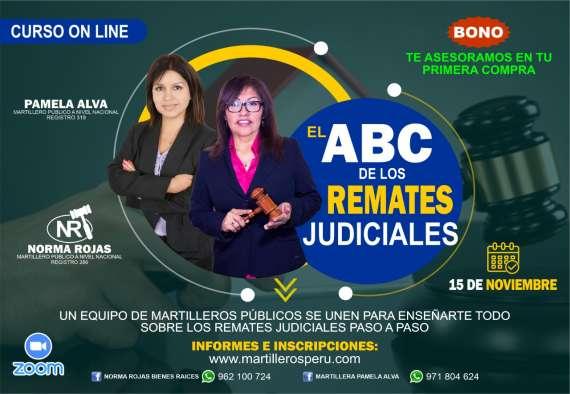CURSO ON LINE: EL ABC DE LOS REMATES JUDICIALES