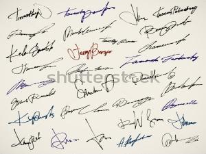 Firmas Manuscritas, Mecanizadas y Tecnológicas